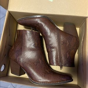 Coconuts by Matisse brown snake faux leather boot